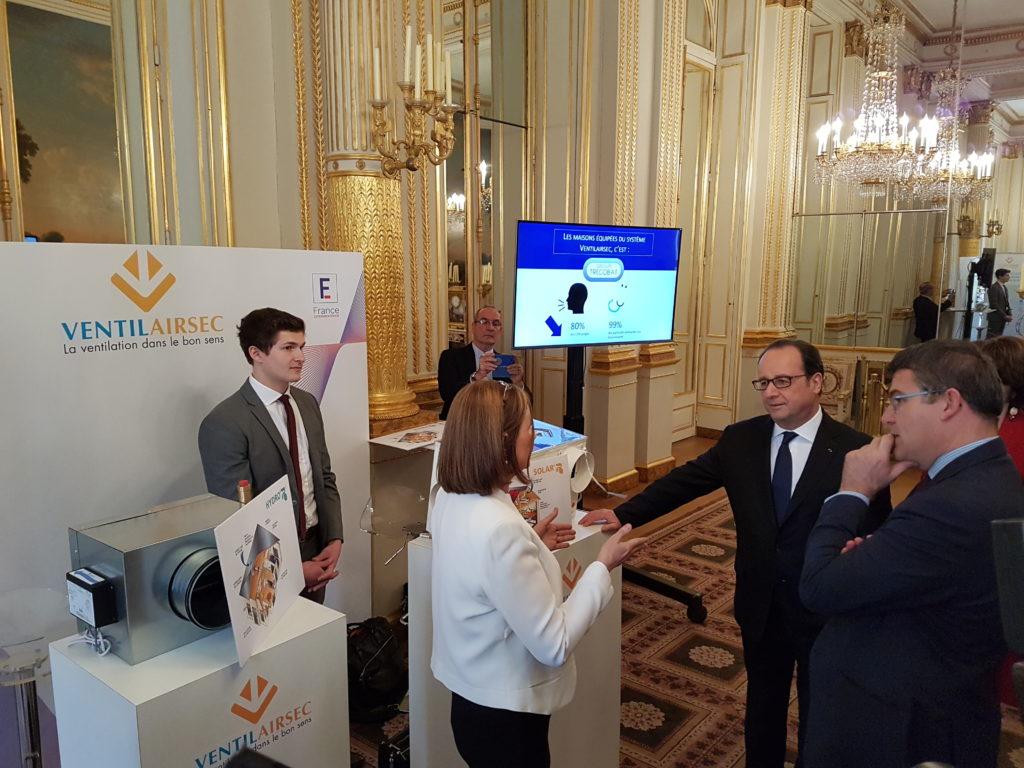 Trécobat à l'Elysée dans le cadre de son partenariat avec Ventilairsec