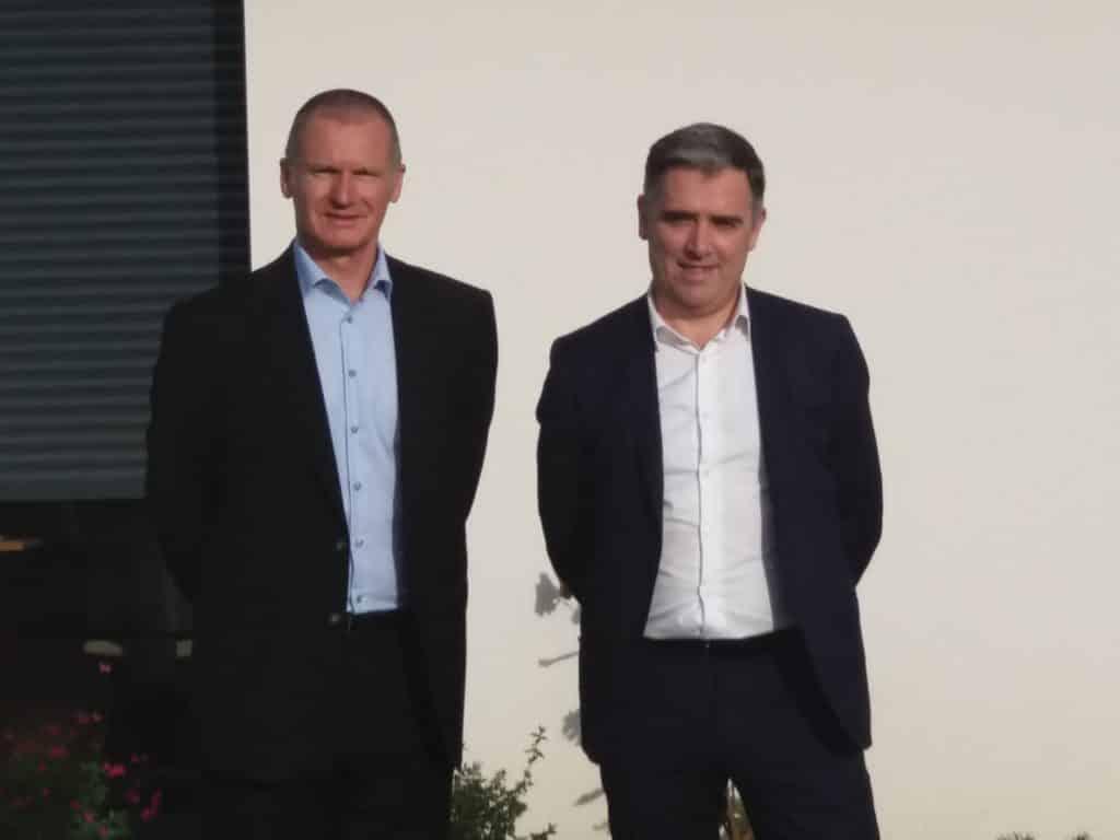 Inauguration agence Trecobat Toulouse - Alban BOYE et Bernard JEGOU