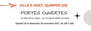 Journées Portes Ouvertes à la Villa E-Odet