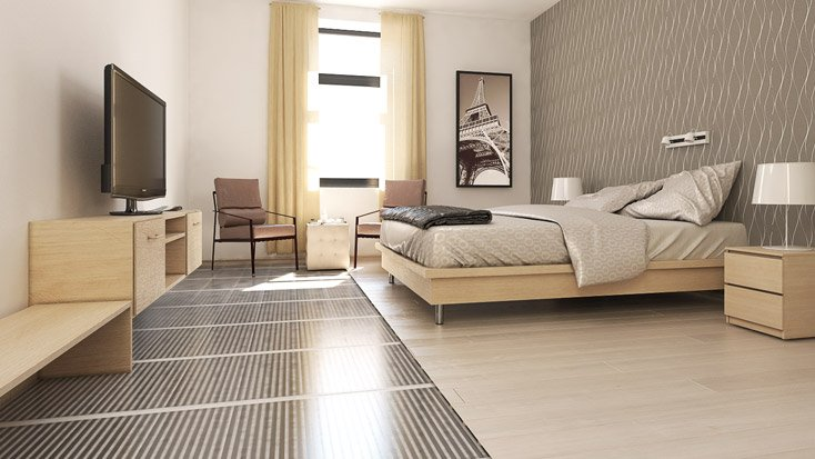 innovation le film chauffant sous parquet stratifi flottant trecobat. Black Bedroom Furniture Sets. Home Design Ideas