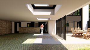 Le brise soleil permet d'ajuster l'entrée de lumière dans la maison pour pouvoir en profiter au maximum.