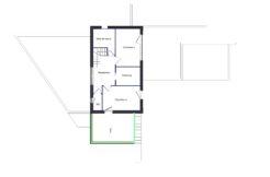 Plan de l'étage de cette maison individuelle de Saint Avez dans le Morbihan