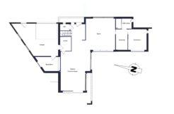 Plan du rez-de-chaussée de cette maison individuelle de Saint Avez dans le Morbihan