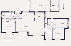 Plan de construction d'une maison individuelle de plain pied à Gouesnou