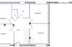 Les chambres de cette maison individuelle sont situées au rdc