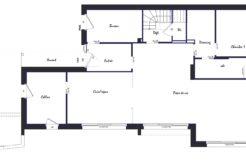 Plan rez-de-chaussée maison individuelle Vannes