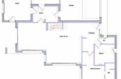 Plan rez-de-chaussée maison individuelle à Pénestin dans le Morbihan