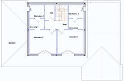 Plan étage maison individuelle Tarn