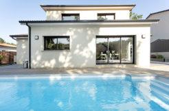 Maison Trecobois avec vue sur la piscine