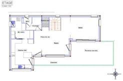Plan de maison à l'étage