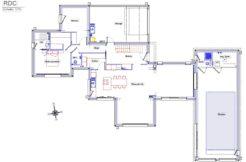 Plan du rez-de-chaussée de la maison