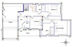 Plan de maison au rez-de-chaussée