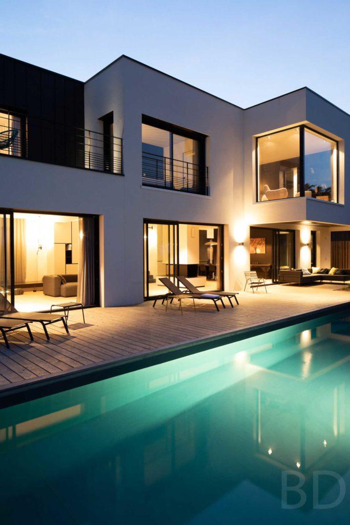 Maison connectée au style contemporain et design