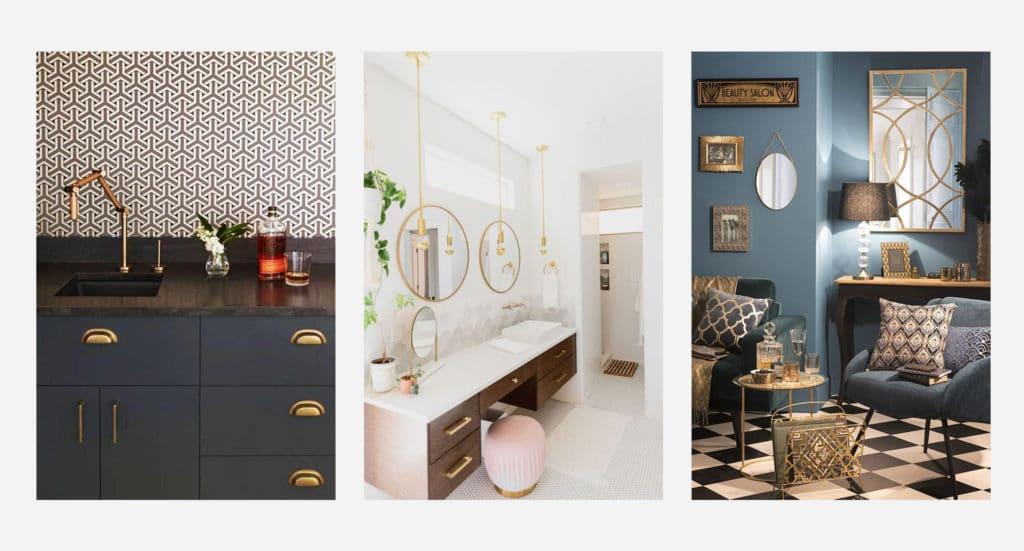 Le style Art Deco apporte du chic et de l'élégance dans toutes les pièces de la maison