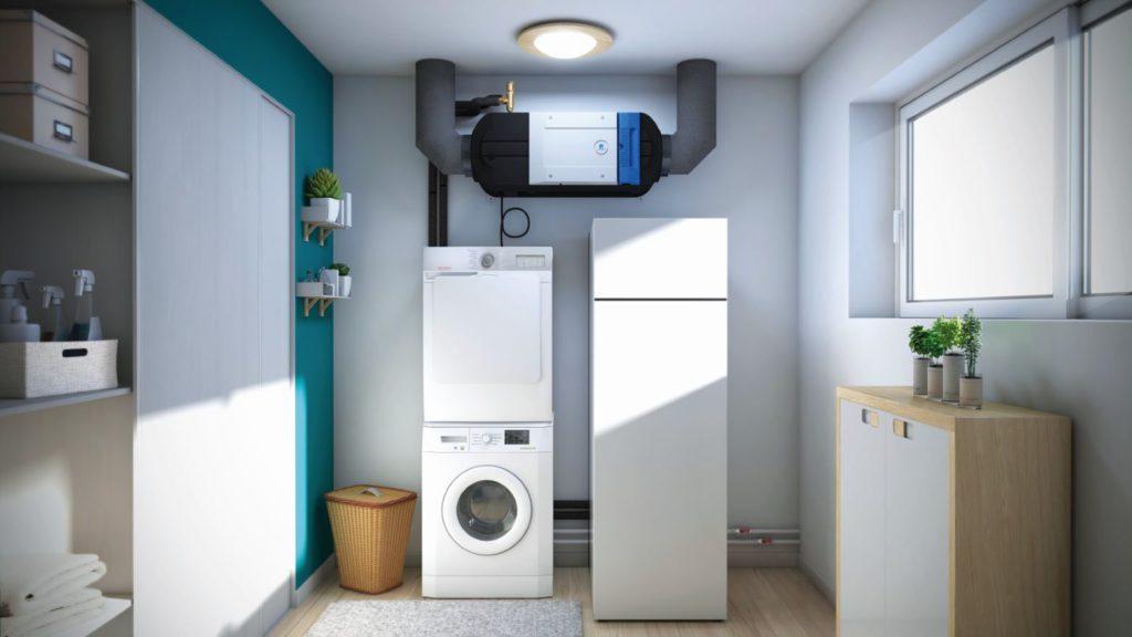 Système de ventilation installé dans la maison pour assurer la qualité de l'air intérieur