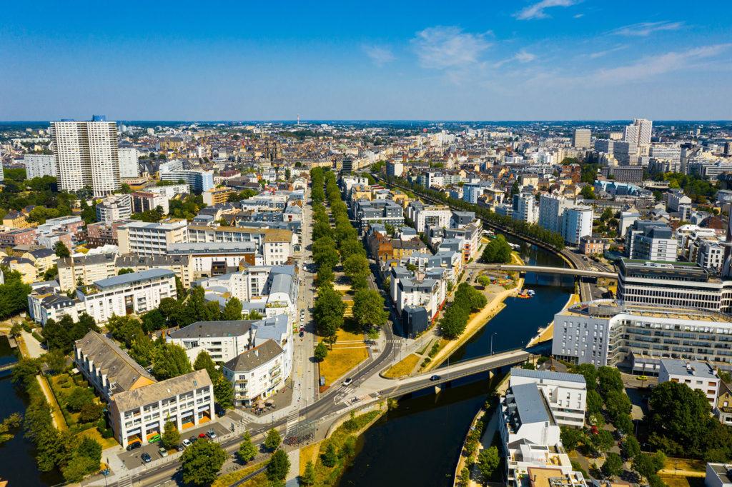 rennes centre ville vue aérienne