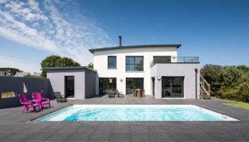 Construction d'une maison avec piscine à Brignogan-Plages (29)