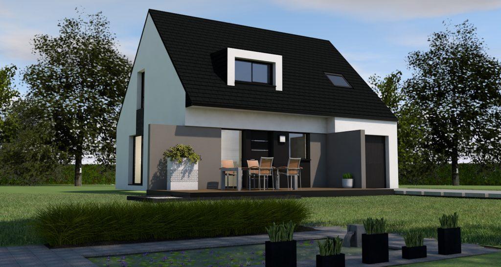 Maison+Terrain de 6 pièces avec 4 chambres à Ploeren 56880 – 279269 € - VB-19-03-25-36