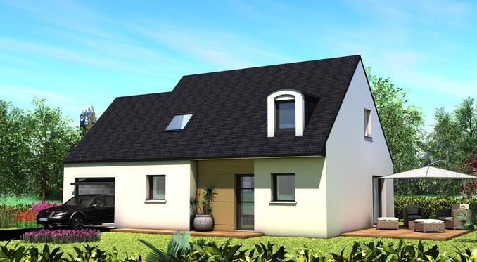 Maison+Terrain de 5 pièces avec 4 chambres à Lanmeur 29620 – 166200 €