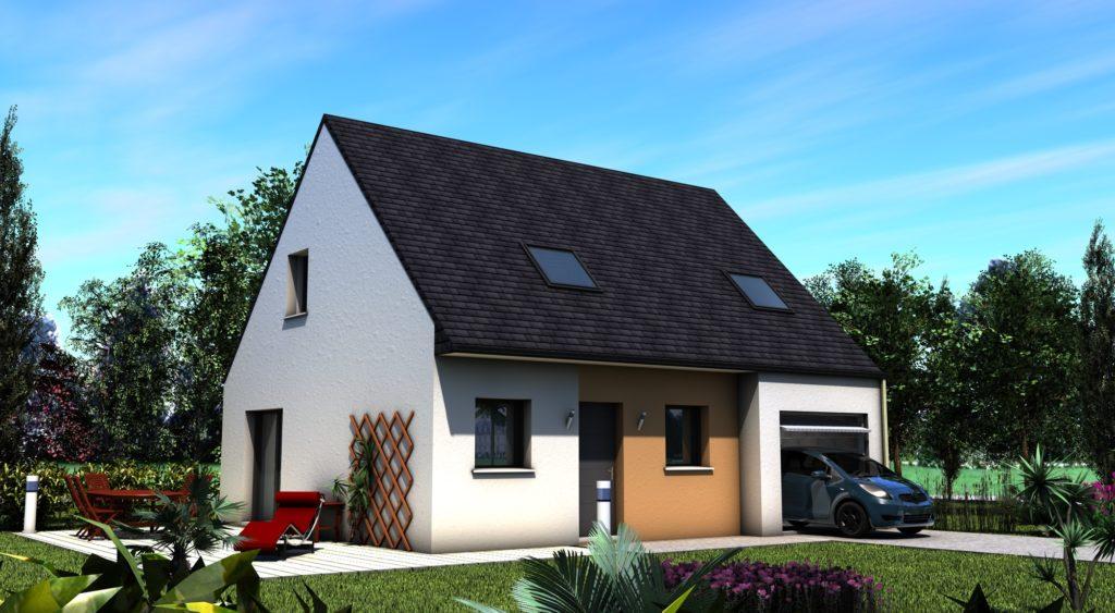 Maison+Terrain de 5 pièces avec 4 chambres à Carantec 29660 – 174900 €