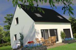 Maison+Terrain de 4 pièces avec 3 chambres à Plourin lès Morlaix 29600 – 160500 €