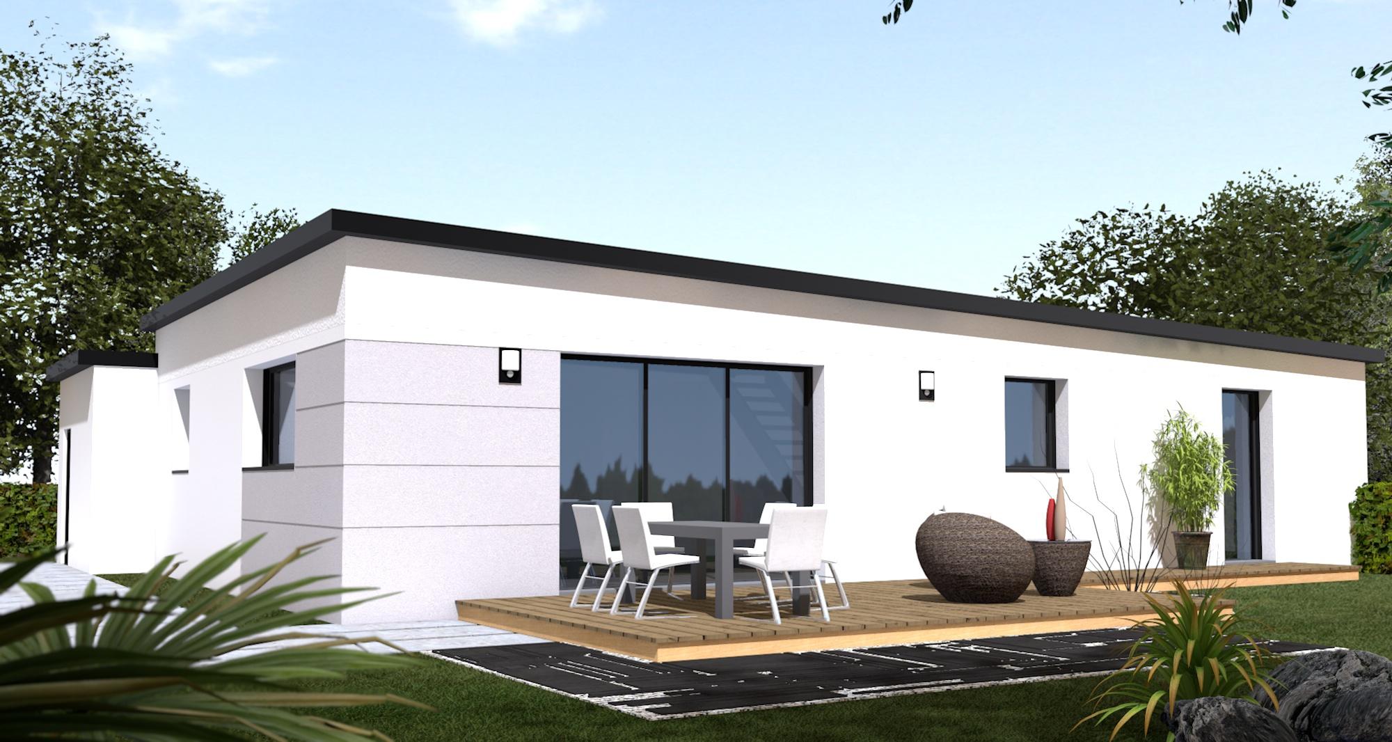 Maison+Terrain de 6 pièces avec 4 chambres à Lanmeur 29620 – 164600 €