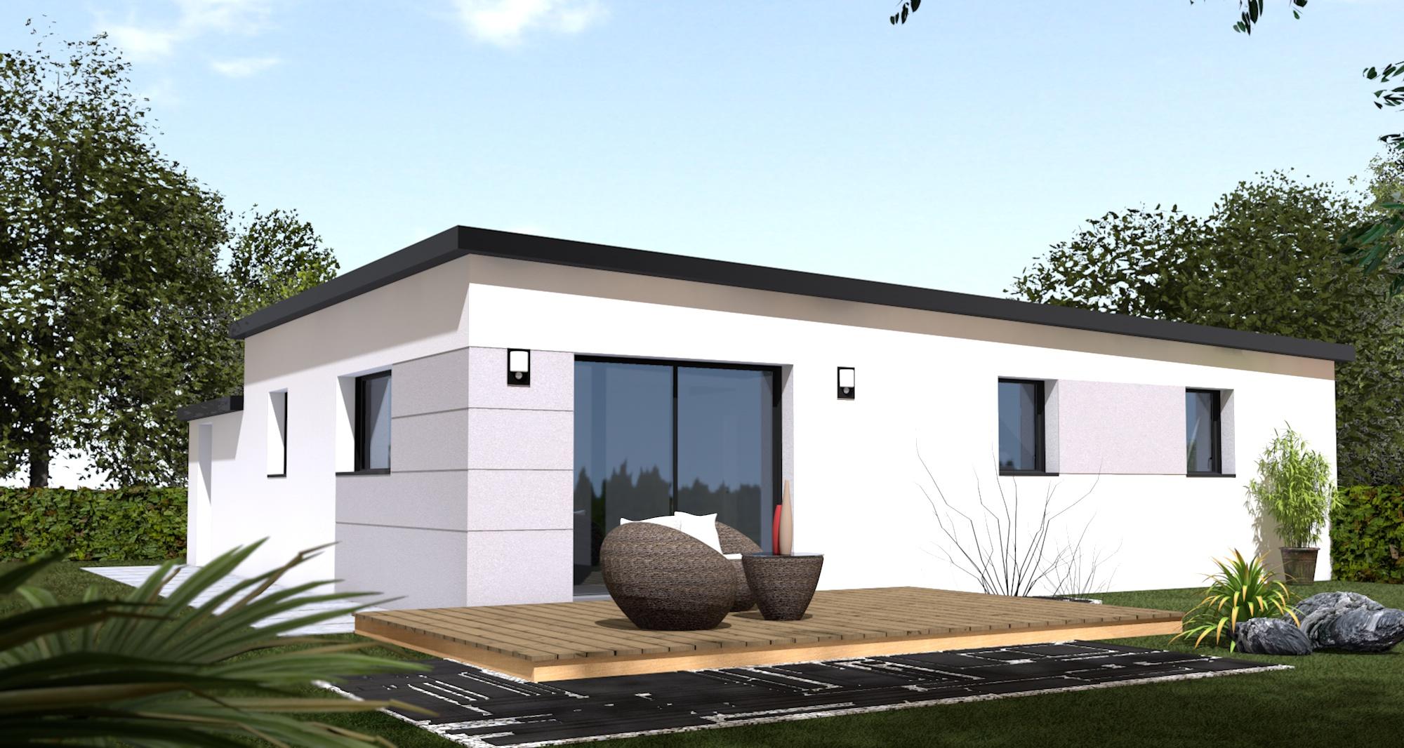 Maison+Terrain de 5 pièces avec 3 chambres à Lanmeur 29620 – 146800 €