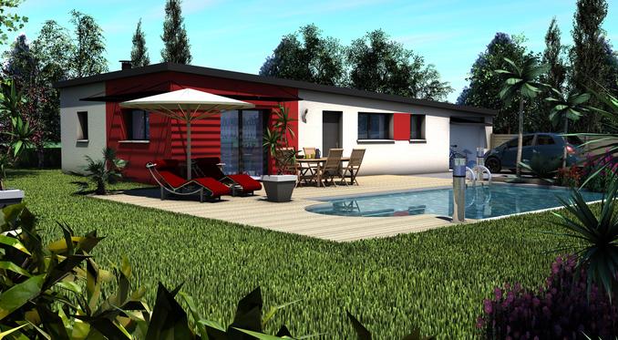 Maison+Terrain de 4 pièces avec 3 chambres à Lanmeur 29620 – 155800 €