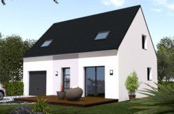 Maison+Terrain de 5 pièces avec 3 chambres à Ploudaniel 29260 – 155323 € - SCO-19-04-17-3