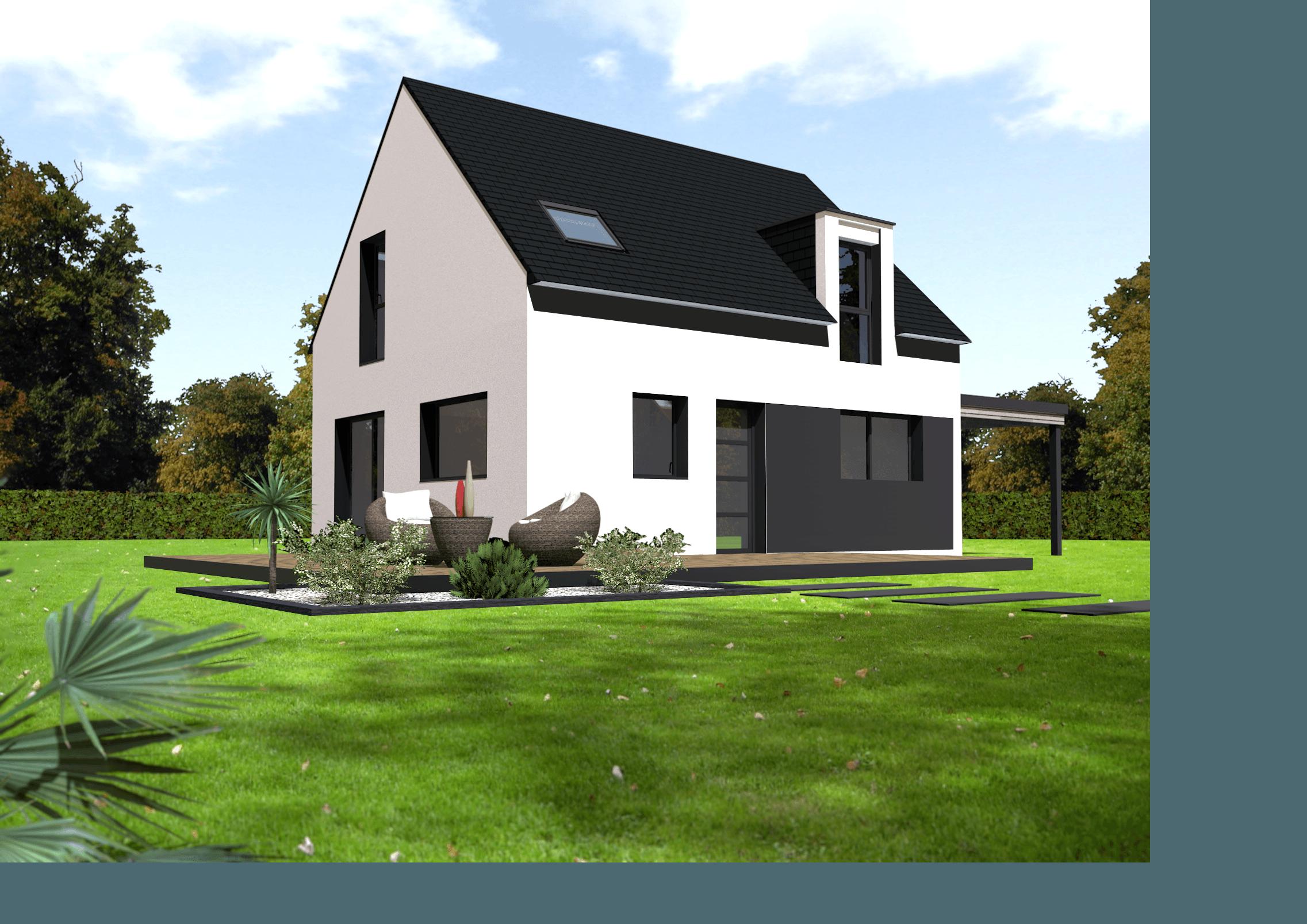 Maison+Terrain de 5 pièces avec 4 chambres à Carantec 29660 – 165000 €