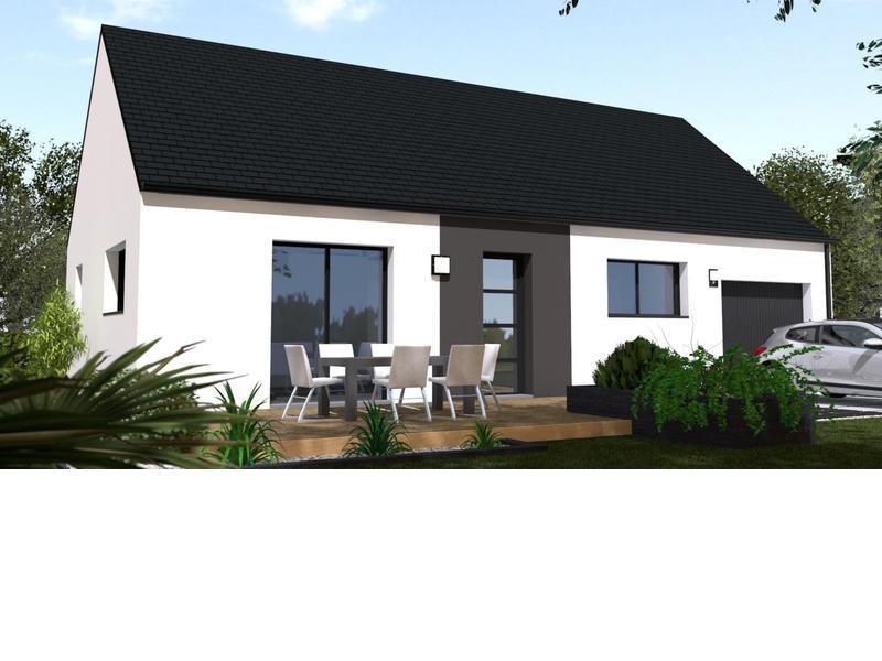 Maison+Terrain de 4 pièces avec 2 chambres à Saint Molf 44350 – 153400 €