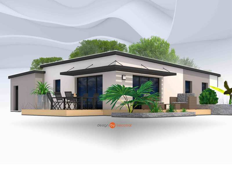 Maison+Terrain de 5 pièces avec 3 chambres à Fouesnant 29170 – 235000 €