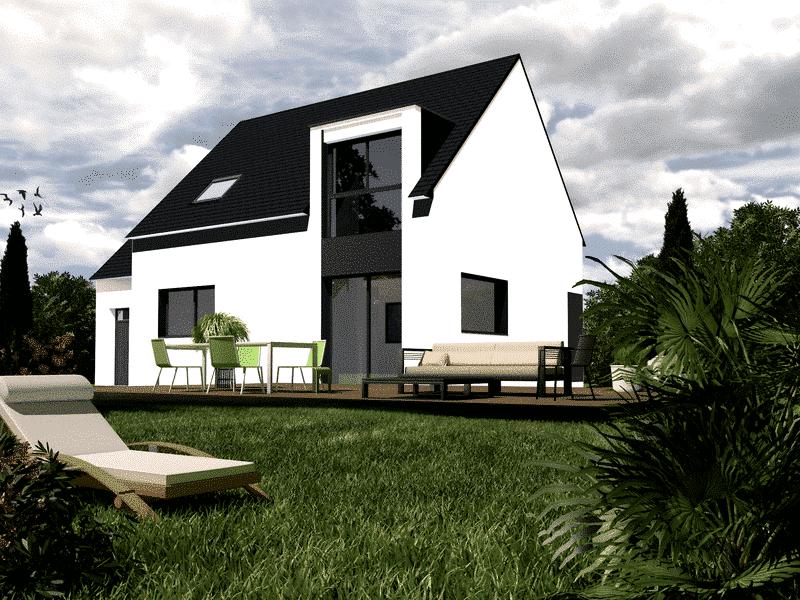 Maison+Terrain de 5 pièces avec 4 chambres à Névez 29920 – 208200 € - EDE-19-01-14-30