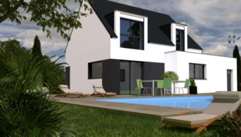 Maison+Terrain de 5 pièces avec 4 chambres à Clohars Fouesnant 29950 – 214900 € - EDE-19-01-02-33