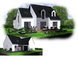 Maison+Terrain de 6 pièces avec 4 chambres à Lannion 22300 – 248172 €