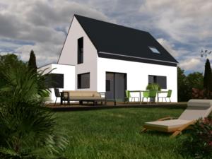 Maison+Terrain de 4 pièces avec 3 chambres à Lanmeur 29620 – 164000 €