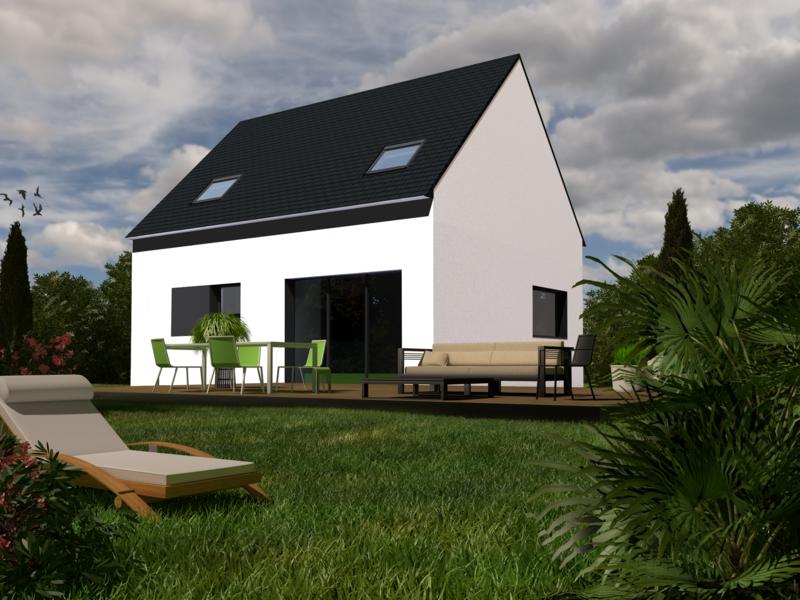 Maison+Terrain de 6 pièces avec 4 chambres à Brielles 35370 – 129920 €