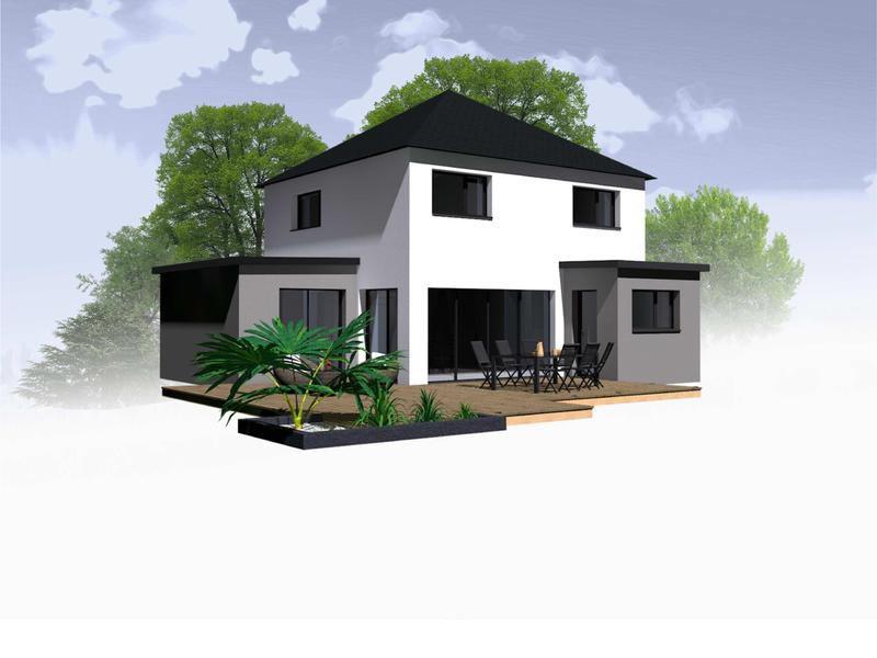 Maison+Terrain de 6 pièces avec 4 chambres à Ercé près Liffré 35340 – 224500 € - BBA-19-01-24-43
