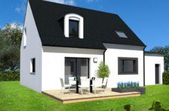 Maison+Terrain de 5 pièces avec 4 chambres à Peumérit 29710 – 189400 € - TBI-18-09-10-24