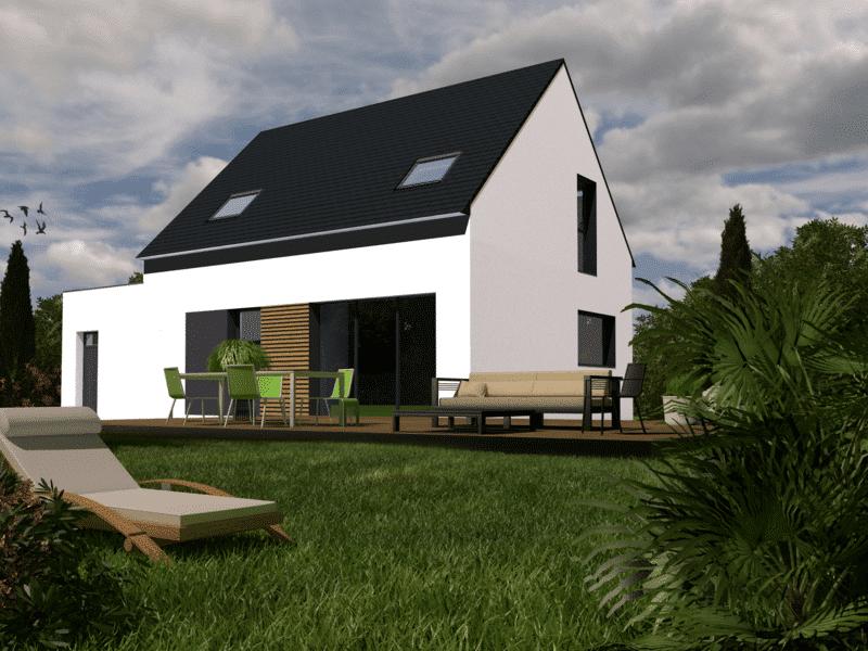 Maison+Terrain de 5 pièces avec 4 chambres à Pleuven 29170 – 236132 € - TBI-19-07-09-57